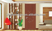 Traditional Door Design PVC /MDF Wooden Entrance Office Door
