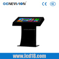 42 inch free standing windows system wifi 3G all in one PC advertising player with shelf holder