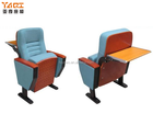 High quality folding comfortable seat right wood church chair auditorium chair (YA-03D)