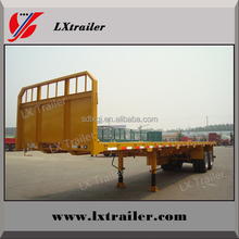 3 Axles 40ft container or 2x20ft container flat deck truck semi trailer