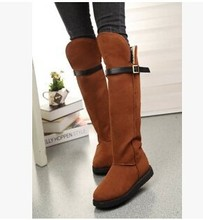 C63989A winter high knee boot thick boot for ladies