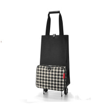 SB214 Portable Folding Polyester Shopping Trolley Bag with Wheels