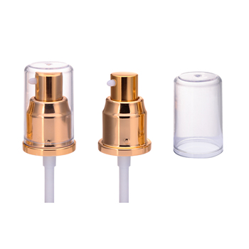 Matt silver or gold China yuyao cosmetic sprayer pump