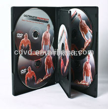 DVD 14mm Sextuple Black Case W/Sleeve