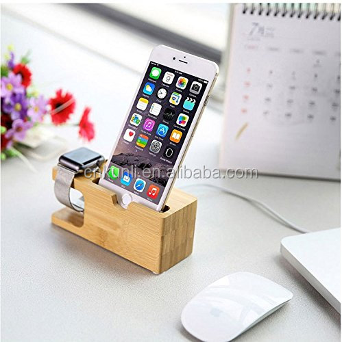 Wooden Watch Stand, Wood Charging Bracket Docking Station
