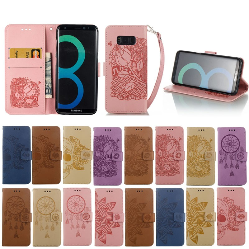 Latest New Arrival Luxurious art design embossed leather case For Samsung Galaxy S8