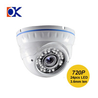 AHD/CVI/TVI/CVBS 4 in 1 security camera 1mp 720p CCTV Fixed dome camera FCC, CE , ROHS AHD function security camera