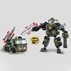 wholesale 2 in 1 toy robot Future Hero plastic building blocks