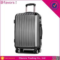 In stock school kids trolley luggage bag travel suitase abs pc trolley luggage aluminum frame case luggage with great price