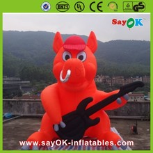 Outdoor advertising red inflatable pig giant inflatable pig cartoon for sale