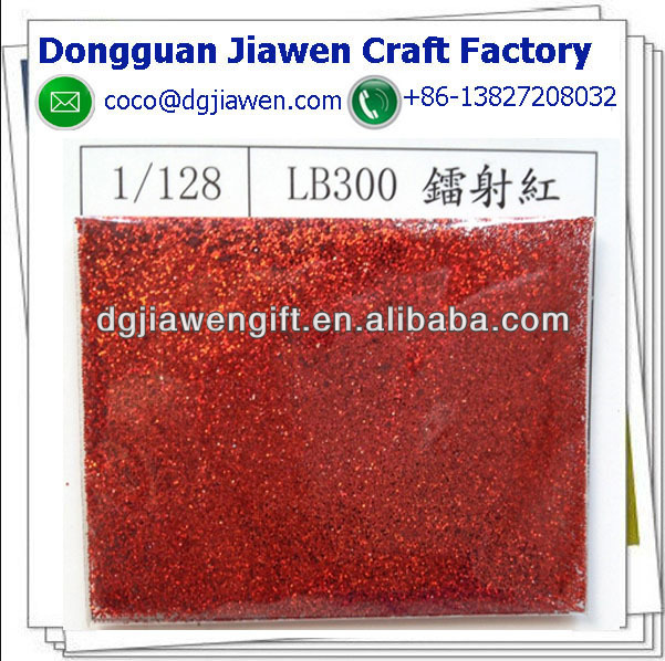 red color glitter powder for craft