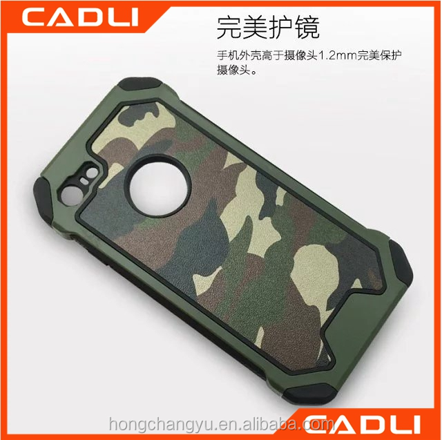 High quality tough three in one armor cell phone camouflage case for iPhone 6