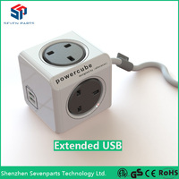 2015 UK New Design mount anywhere 5V 2.1A 2port USB Socket with Docking station