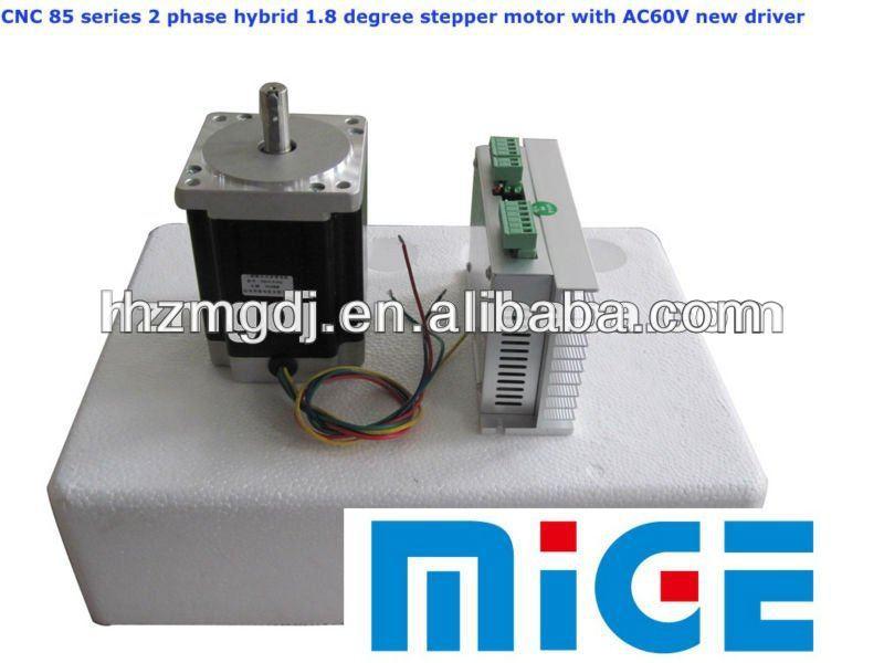 Cnc 85byg 2 phase hybrid 1 8 degree stepper motor with for Stepper motor buy online
