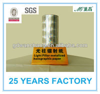 Many kinds of metallic paper for offset printing