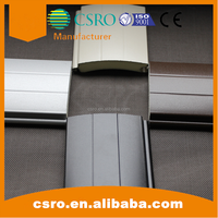 77mm aluminum motorized insulated rolling shutters slat