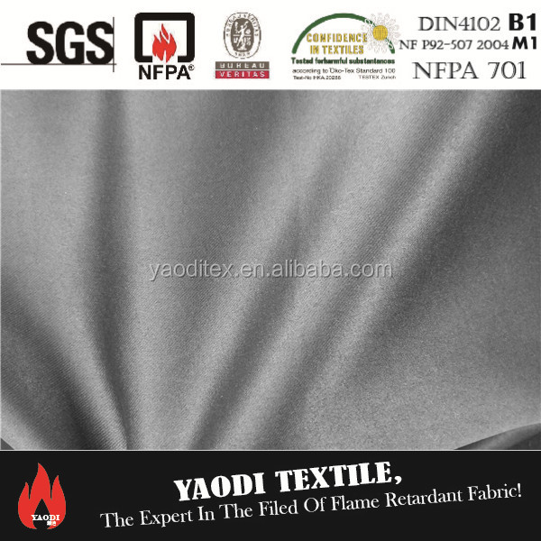 IFR 100% polyester black blackout fabric