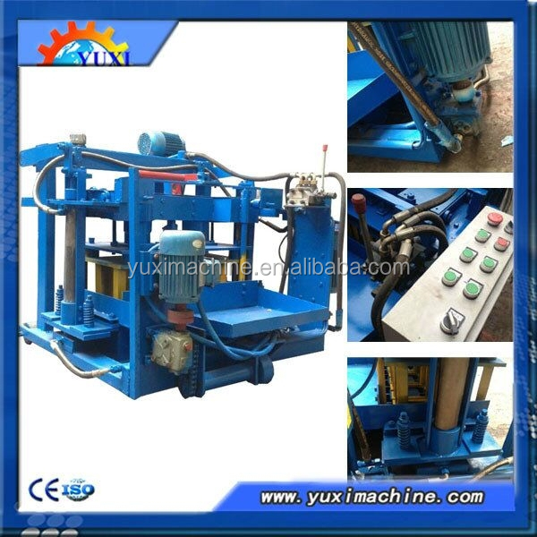 manual high performance baking-free movable egg laying diesel engine concrete hollow brick machine