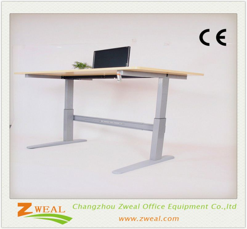 height adjustable lifting columns 1 motor modern boss/manager glass table with hardware legs diy laptop wooden