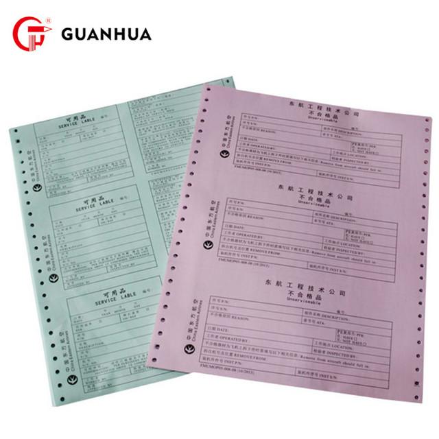 Cheap continuous form 241mm computer printer paper
