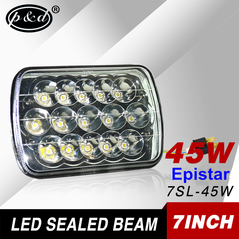 7inch 45w led sealed beam headlight led driving light