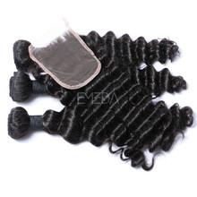 Best virgin hair company aliexpress hair virgin human brazilian hair with closure that last more than 2 years