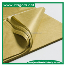 Color gift wrapping tissue paper wrapped with kraft paper