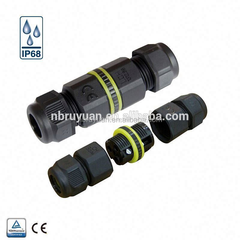 V110105 small electrical ip67 waterproof box terminal t 2 pin 3 pin wire cable connectors