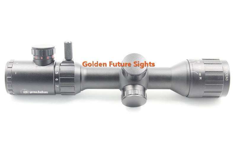 GF0026B Golden Future 2-7x32AO hunting riflescope with Front Parallax Adjustment