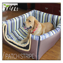 customized wholesale non slip triangle shape cedar filled pet luxury dog bed