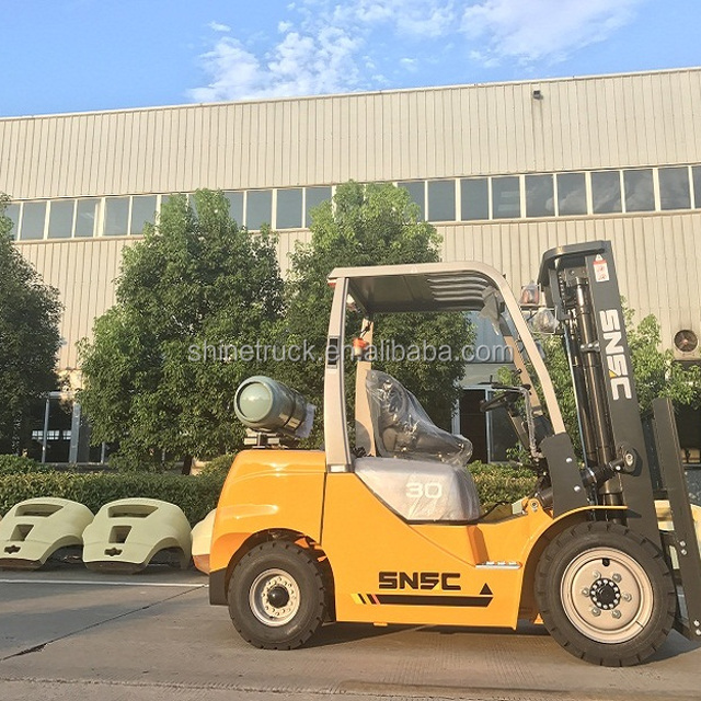 snsc forklift 3tons gasoline lpg forklift with automatic transmission