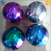 hollow steel ball 150mm 200mm 250mm 300mm rainbow color metal sphere for sale
