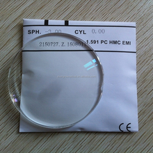 1.591 hc hmc eni Single vision polycarbonate pc lens