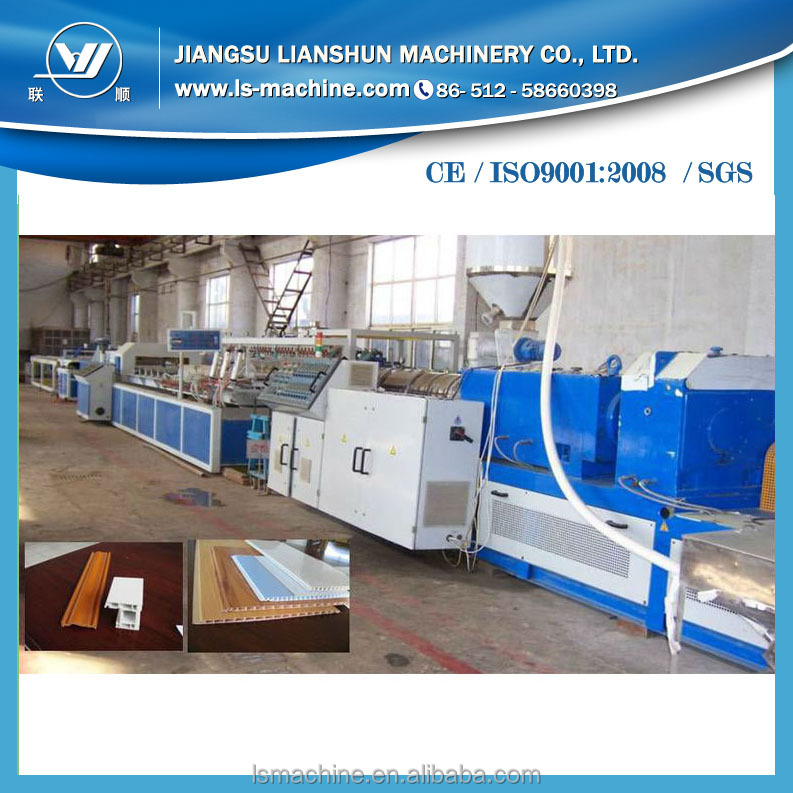 Fully automatic pvc wpc cabinet door making machine for sale