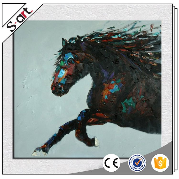 Eco-friendly new arrival abstract horse oil paintings