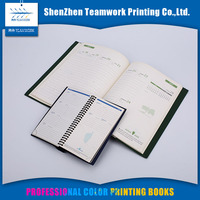 custom high quality Foil stamping CMYK 4C Printing school supplies notebook