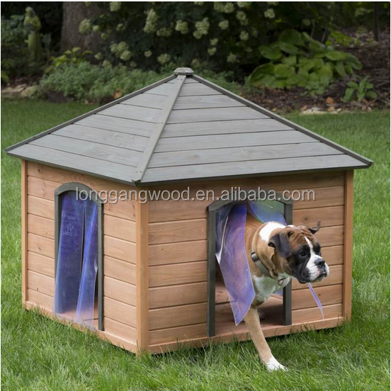 outdoor wooden dog kennel