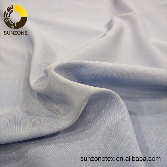 Polyester soft plain chiffon brushed yarn dyed fabrics 75D
