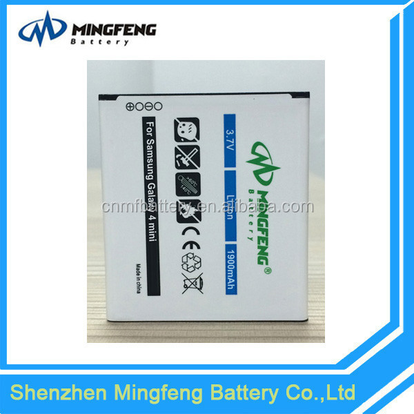 Long lasting gb/t18287-2000 mobile phone batteries for samsung s4 mini I9190 I9198 I9192 I9195