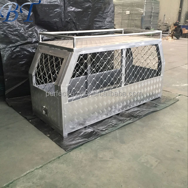 Heavy Duty large double gates Aluminium Dog Cage / Dog Crate