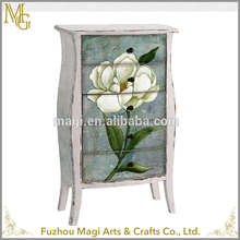 cheap multi drawer home decorative White Flower drawing room wooden cabinet designs