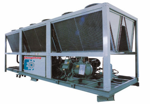 China industrial air cooled screw chiller with safety valve