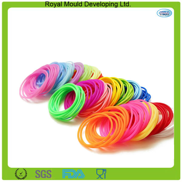 rubber silicone colorful bracelet bands