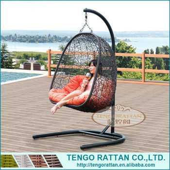 2014 garden rattan swing chair comfortable hanging chair (Y9103)