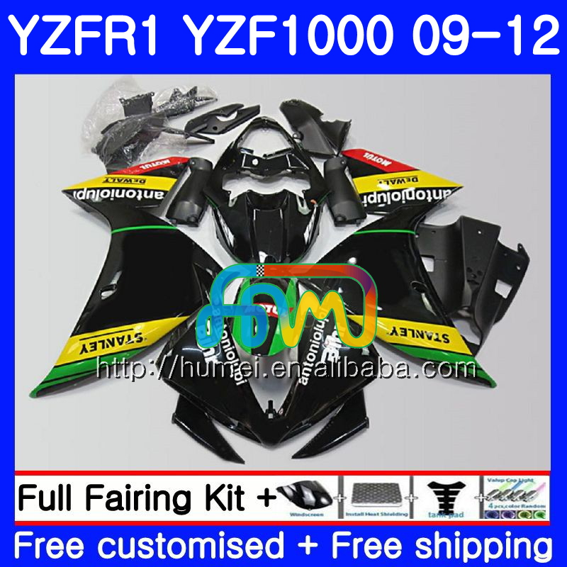 Body For YAMAHA YZF-<strong>R1</strong> glossy black YZF-1000 YZF <strong>R1</strong> <strong>09</strong> 10 11 12 104HM49 YZF1000 R 1 YZF 1000 YZFR1 2009 2010 2011 2012 Fairing