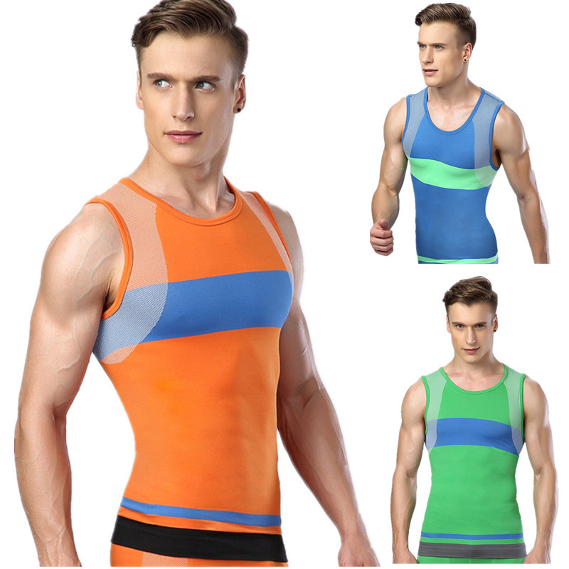 64abd59b3e73c Get Quotations · 2015 New Mens Sleeveless Compression Tops Base Layer  Sleevess Thermal Under Top Green Color Gym Running