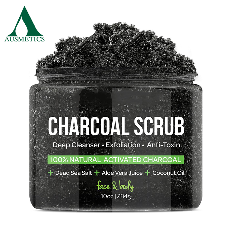 Hot sale antitoxin exfoliator Anti Cellulite Treatment charcoal face body scrub