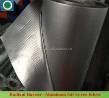 Reflective radiant aluminum foil woven fabric polyethylene vapor barrier film