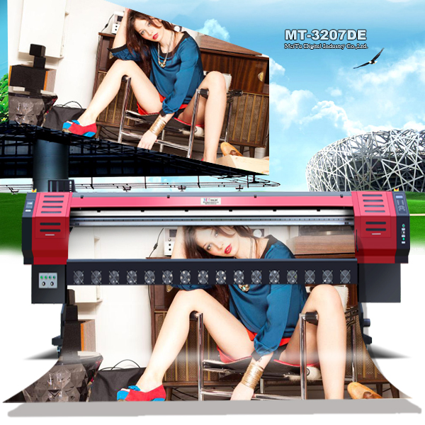 Cheap 3.2m outdoor digital flex banner printing machine price , dx7 printhead price of flex printing machine