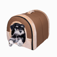 RoblionPet Pet supplies factory direct The new high-grade fabric kennel pointed dog house cat and dog nest bed
